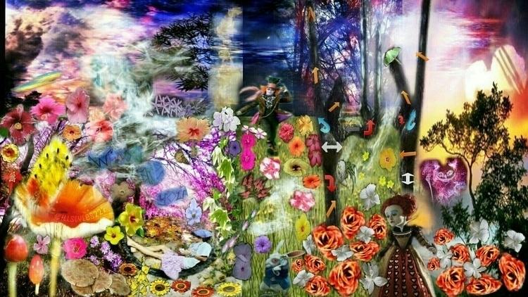 artist: wonderland prints link  - illstyles222 | ello