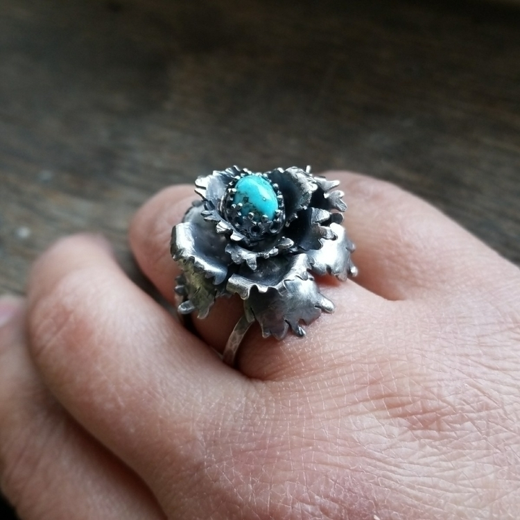 Hand fabricated Peony ring More - alleyec | ello