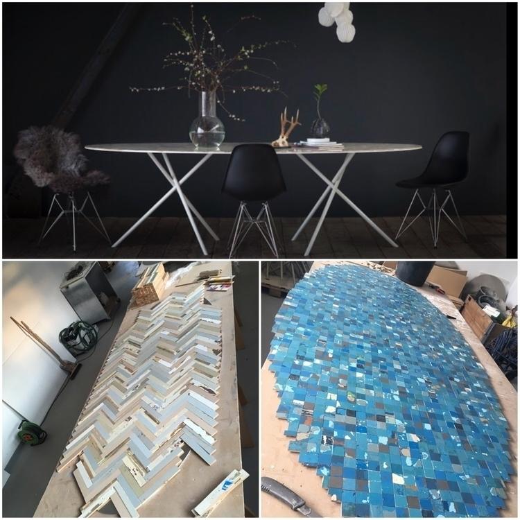 tables recycled doors, aluminum - uncopyable   ello