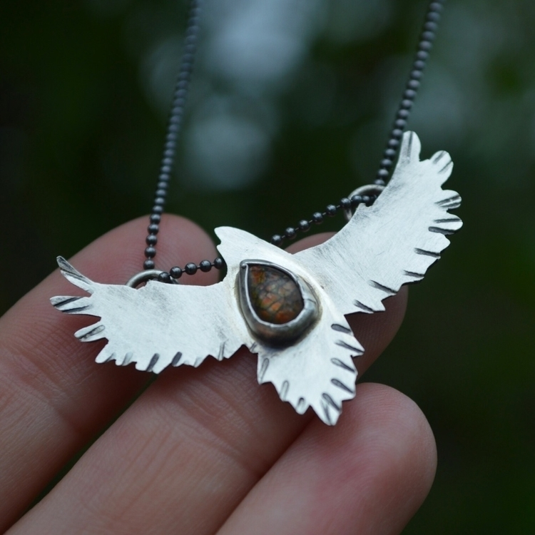 listed crow flight pendant, set - earthandstonestudio | ello
