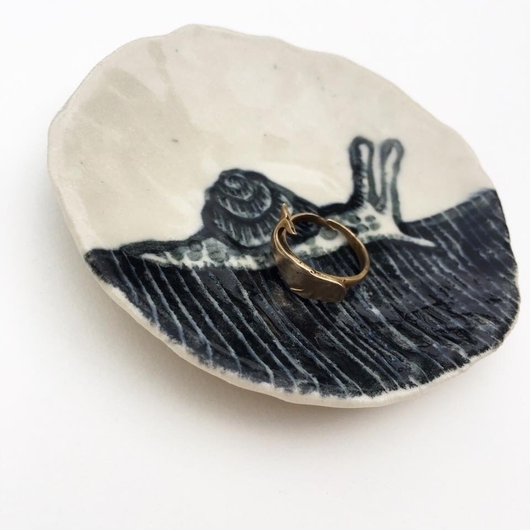 Snail Ring dishes - art, ringdishes - meganschrollart | ello