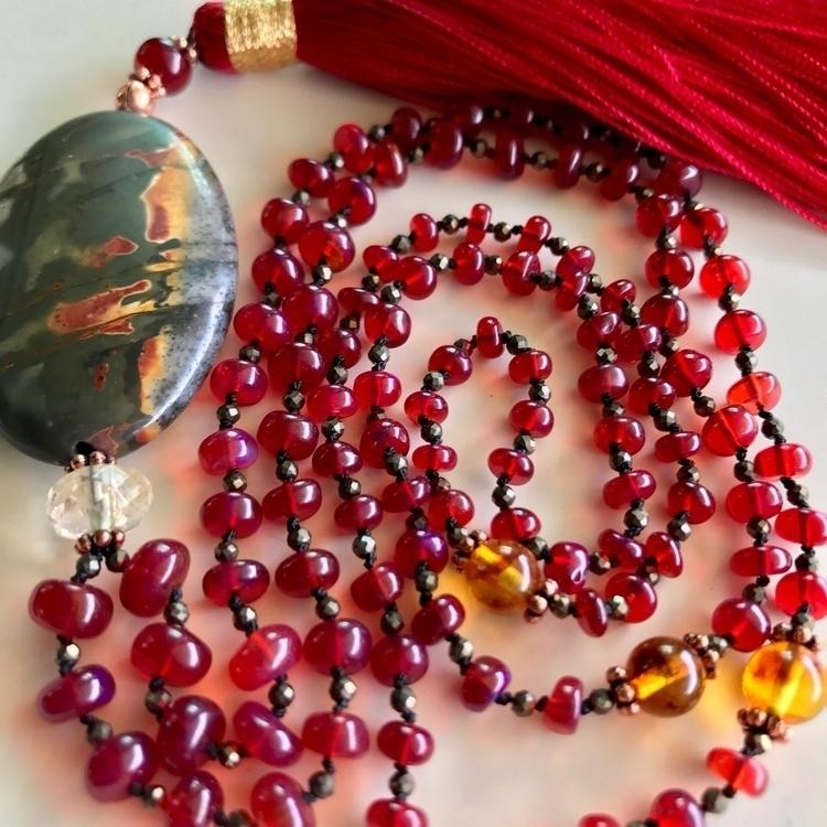 Radiant Fire Mala. special cust - malamalamajewelry | ello