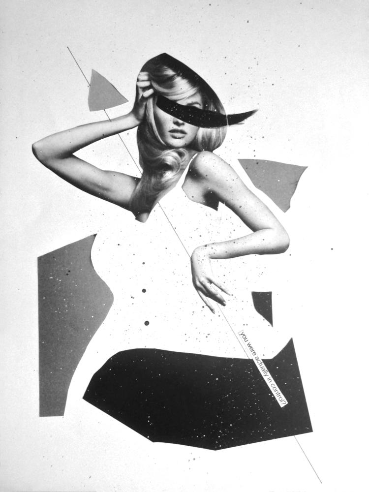 Control - collage, papercollage - marianagv | ello