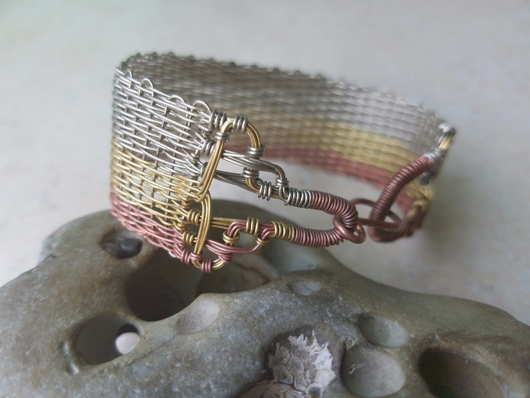 Handwoven Wire bracelet wrapped - annabweaving | ello