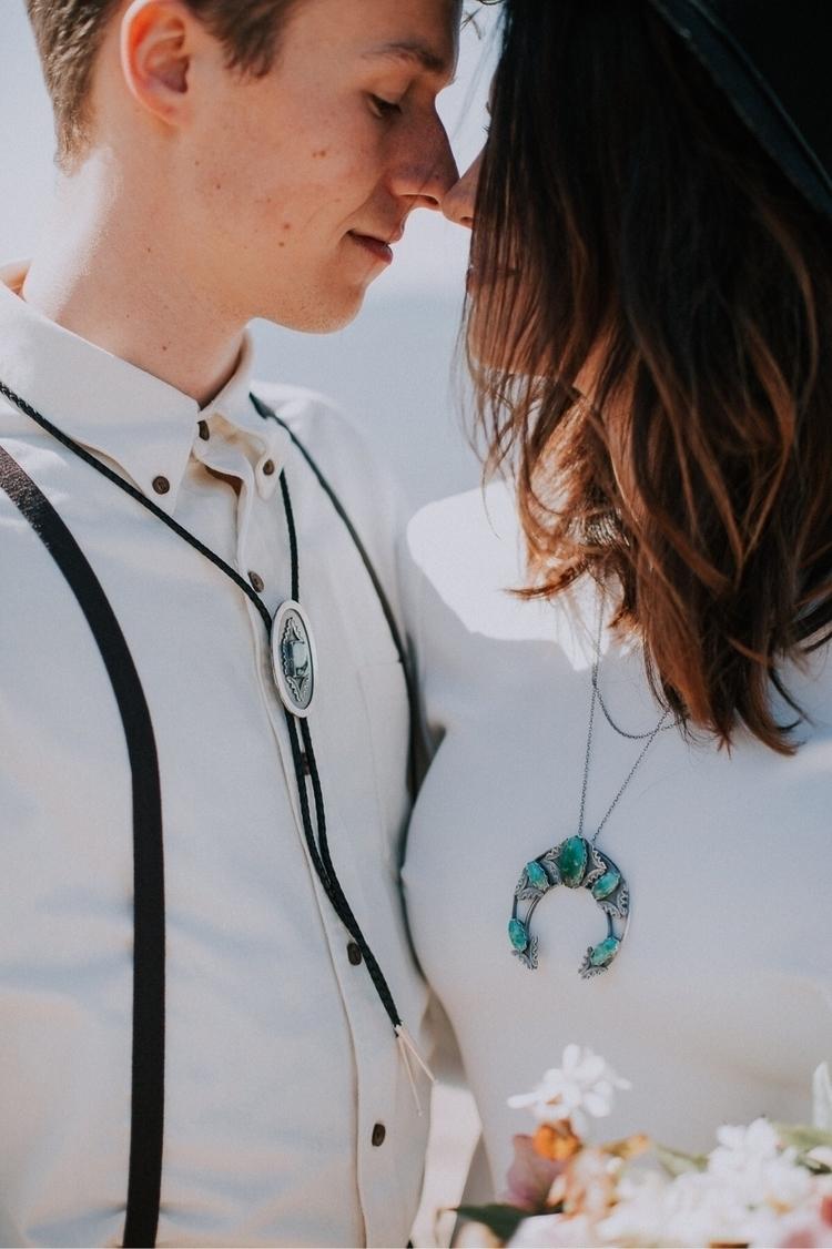Beautiful couple modeling handm - adornedsmithingco | ello