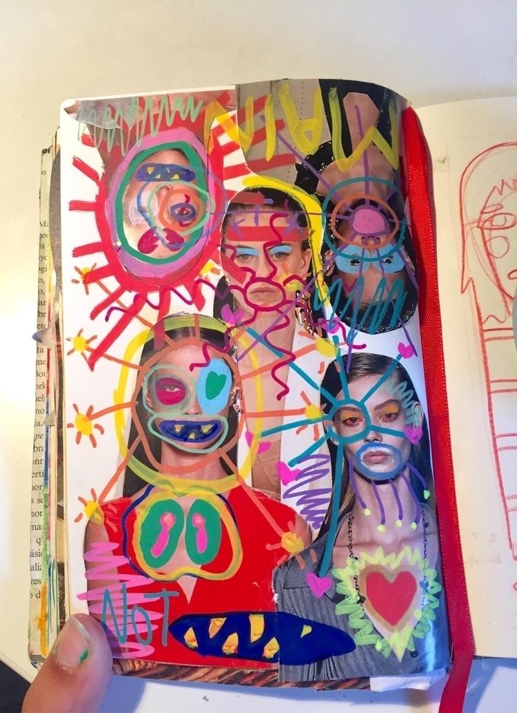 call happening vogue - art, drawing - elenareyna | ello