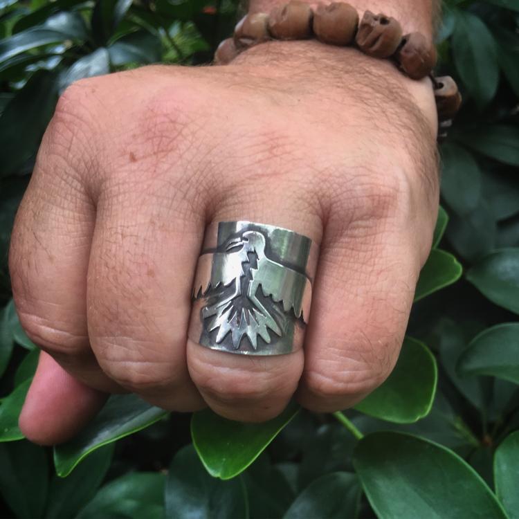 thunderbird ring -- custom piec - lunaseestudios | ello