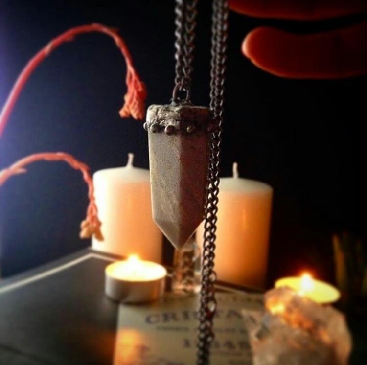 amethyst, crystals, pendants - cristallunacraft | ello