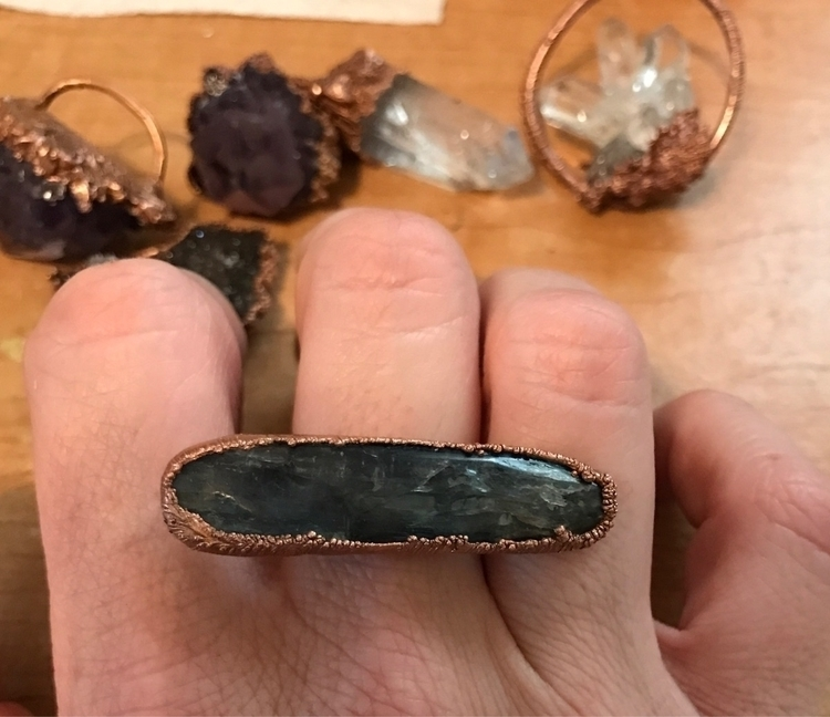 finished kyanite ring, oooohh p - yamsjewelry | ello