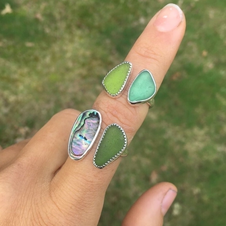 stone sea glass loving!:green_h - saltysouljewelry | ello