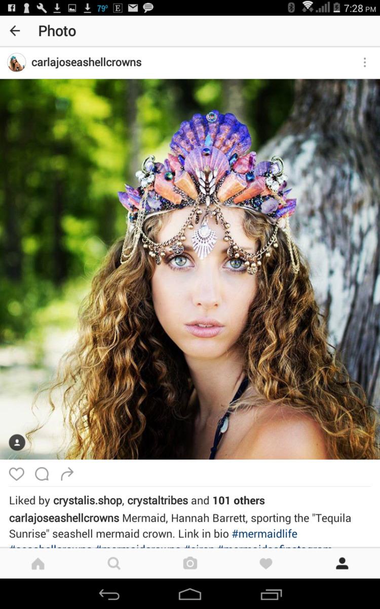 Mermaid Hannah Barrett rocking  - carlajoseashellcrowns   ello