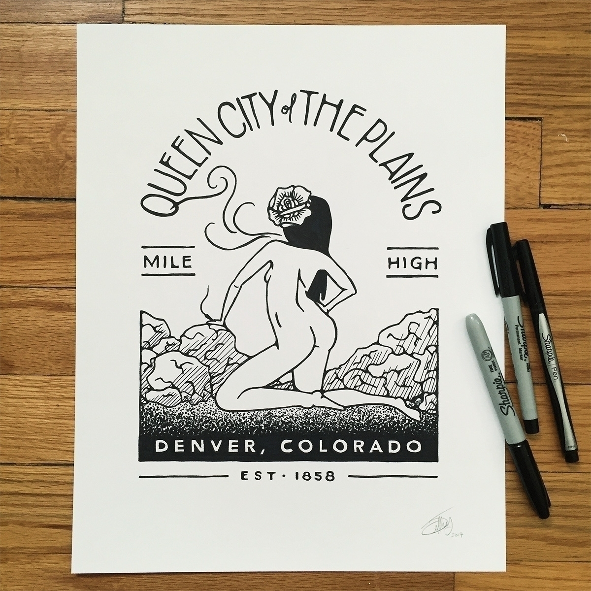 loving home Denver, Colorado - drawing - jeffwalters | ello