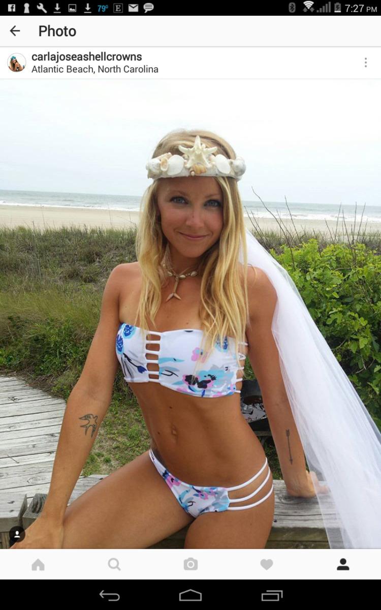 Beautiful bride Brooke rocking  - carlajoseashellcrowns | ello