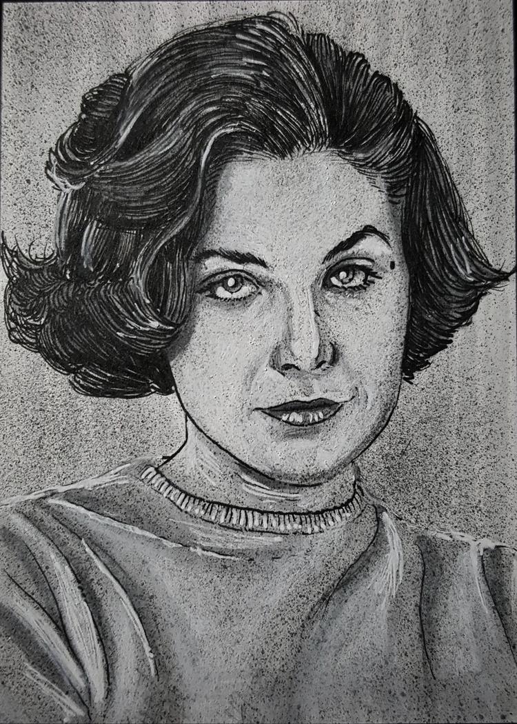 - Audrey Horne 2.5 3.5 sketch c - devin_francisco_illustration | ello