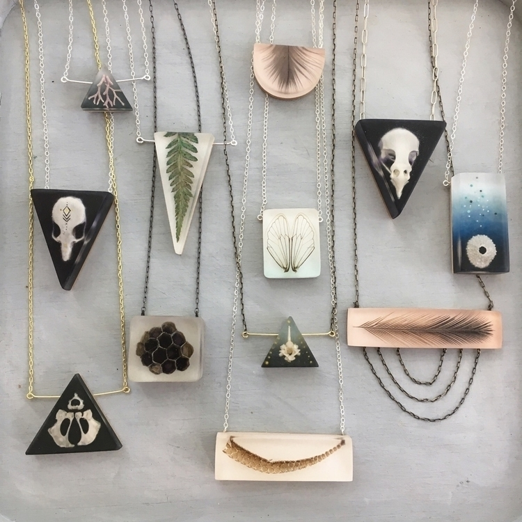 specimen necklaces - resin, resinart - fernworks | ello