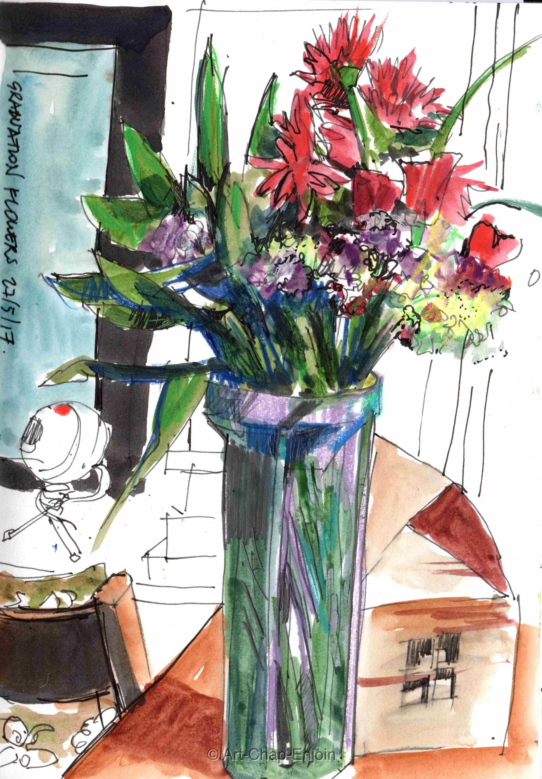 - Graduation flowers Yesterday  - artchapenjoin | ello