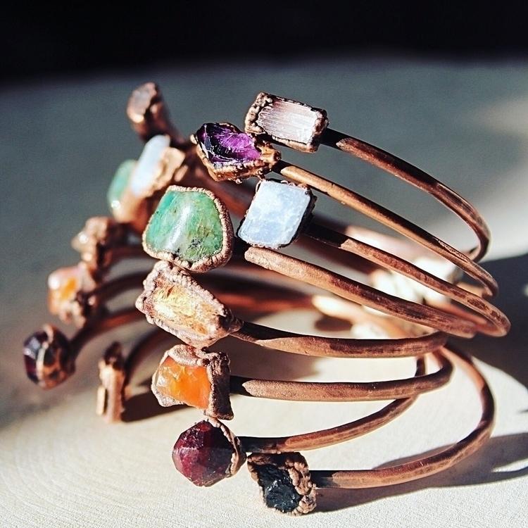 Raw mineral cuff bracelets... W - amykaeatelier | ello