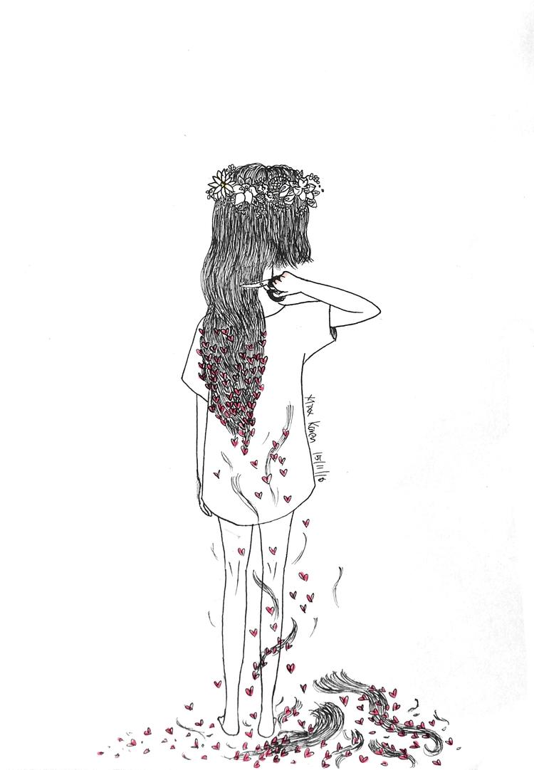 《短发》我已剪短我的发~剪断了牵挂~剪掉一地不被爱的尴尬~  - karenmixx | ello
