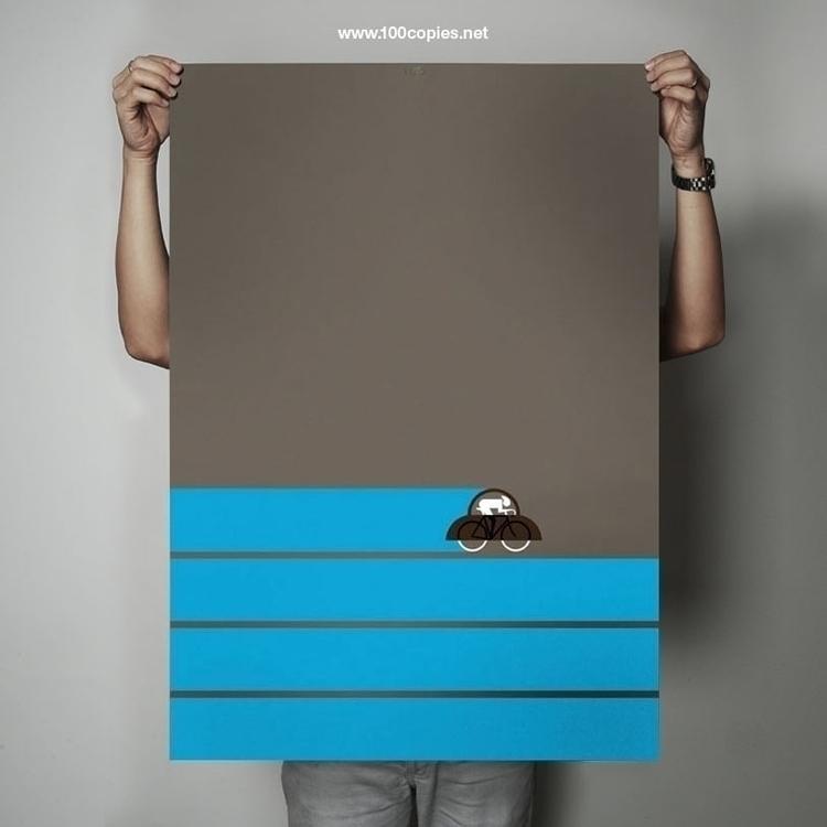 Design 03 - Sky Sheet size: A1  - 100copies_bicycle_art   ello