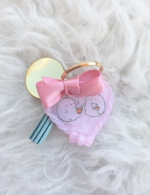 Cute Molang keychain ^___^ poly - finysha | ello