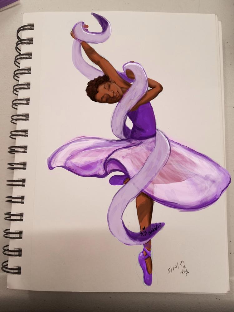 latest work, Purple Ballerina.  - purpleraj | ello