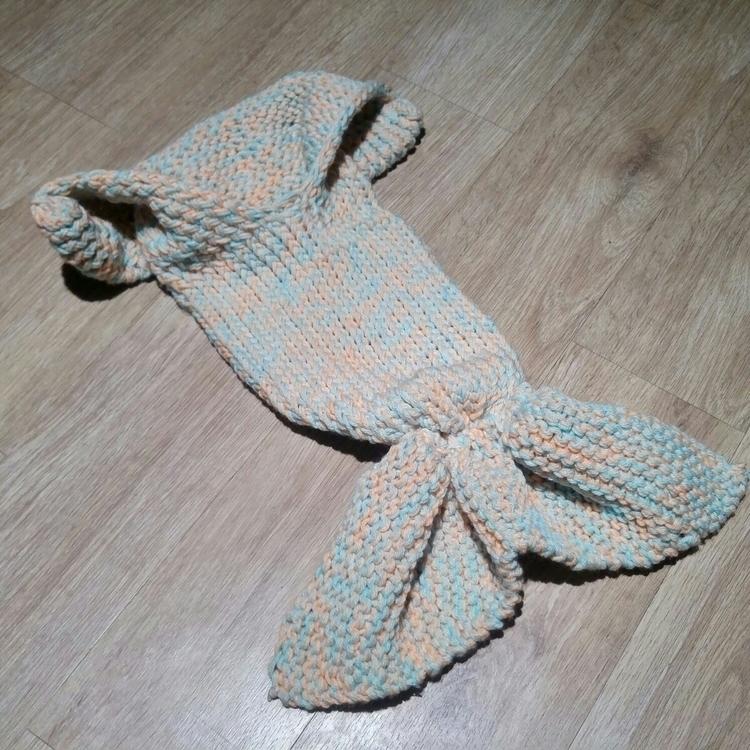 Newborn Mermaid Cocoon Blanket - fallrivernaturals | ello