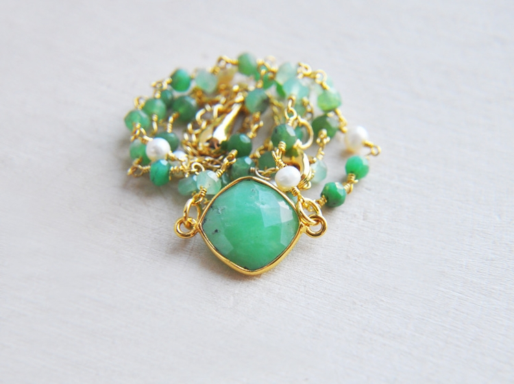 Natural, Green, Chrysoprase, stone - fawinginlove | ello