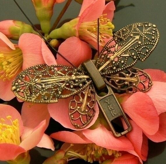 Steampunk Butterfly Zipper Broo - peteandveronicas | ello
