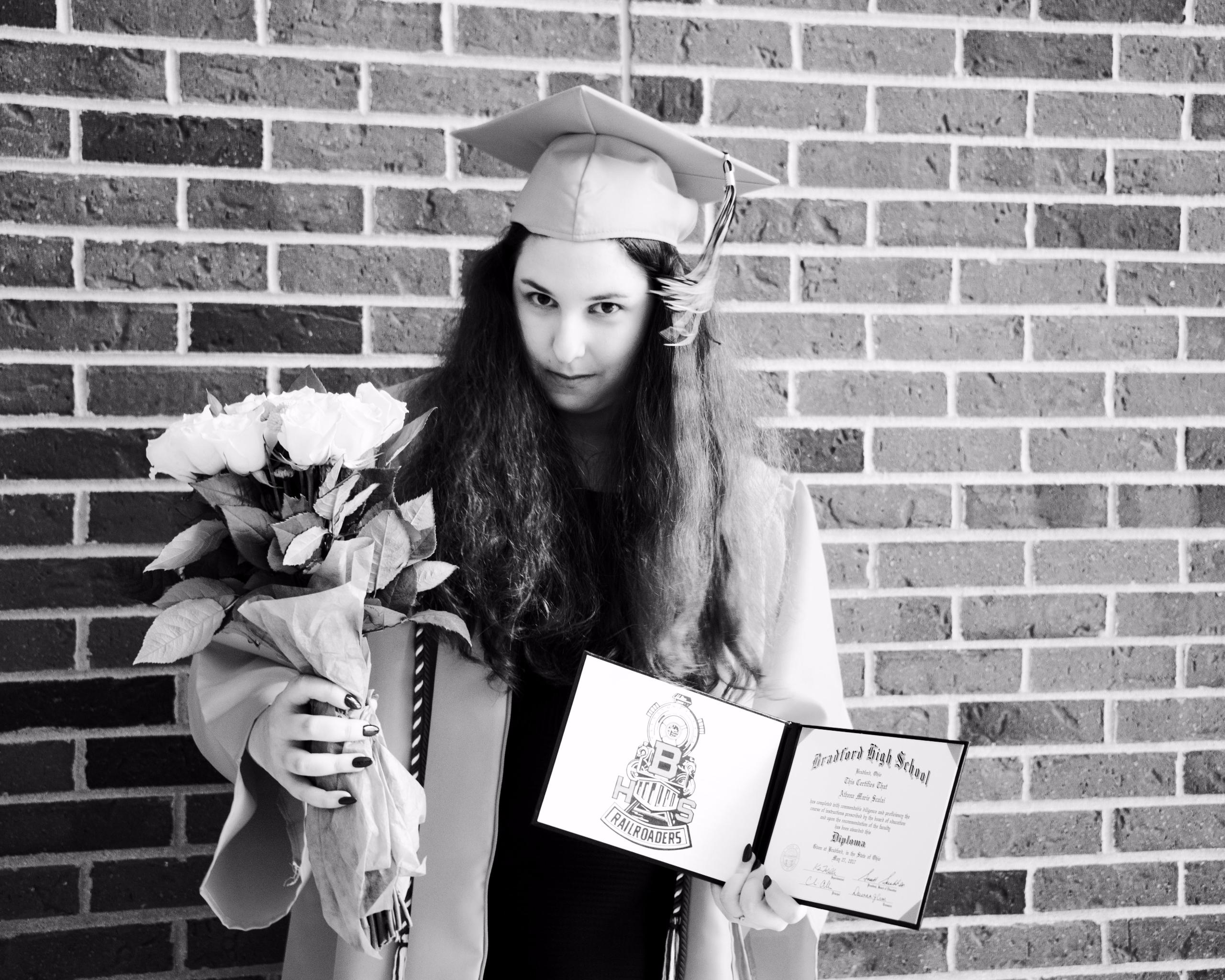 Athena, graduate, 27, 2017 - scalzi | ello