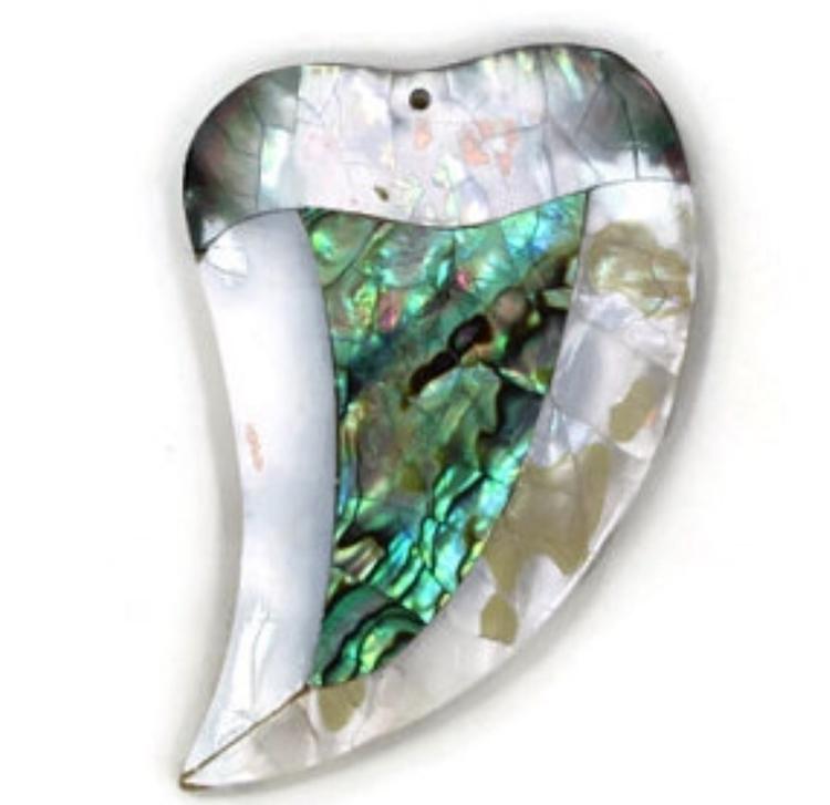 Mother pearl tusk bead pendant - dnagems   ello