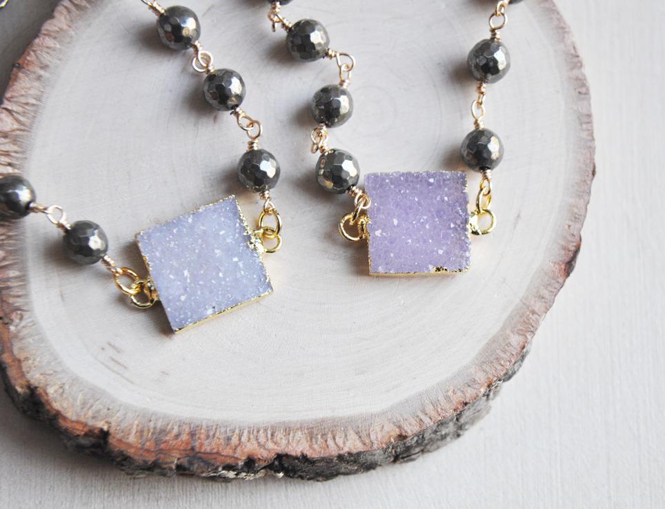 crystals, druzy, pyrite, jewelry - fawinginlove | ello