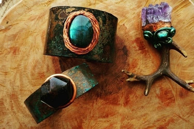 cuffs, patina, garnet, labrador - maevesforest | ello