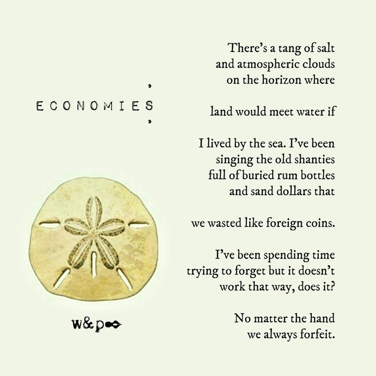 > ECONOMIES tang salt atmosp - whiskeyandpens | ello