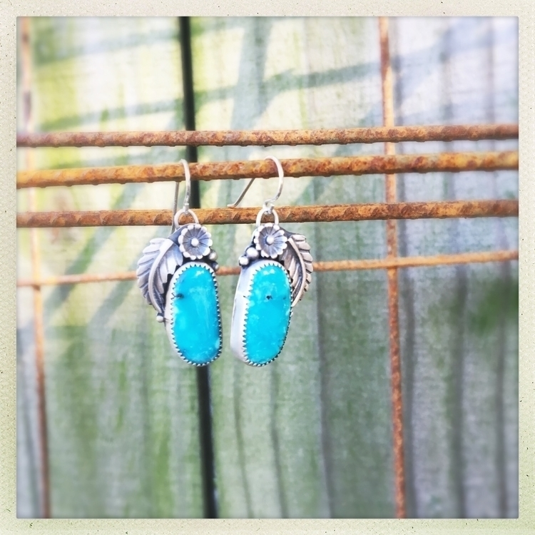 Blue Moon Turquoise earrings pa - swayinggrasssilver | ello