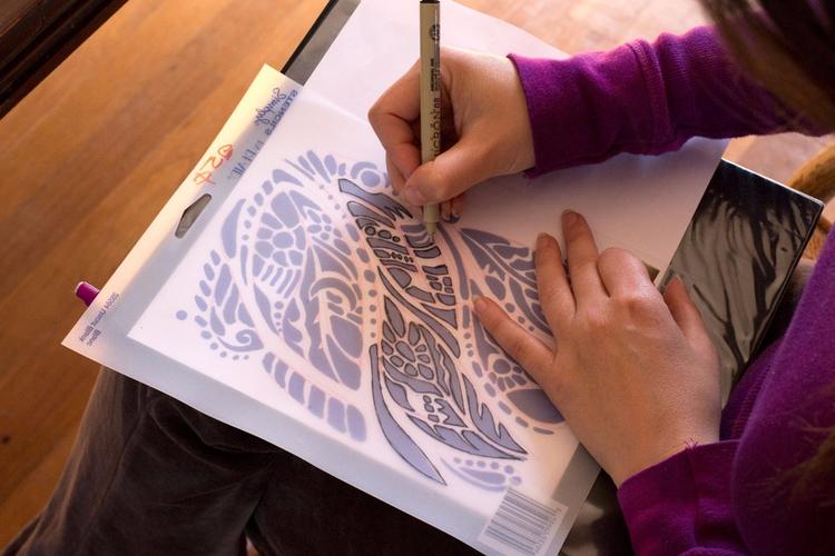 elaborate stencil designs backg - lirelyn | ello