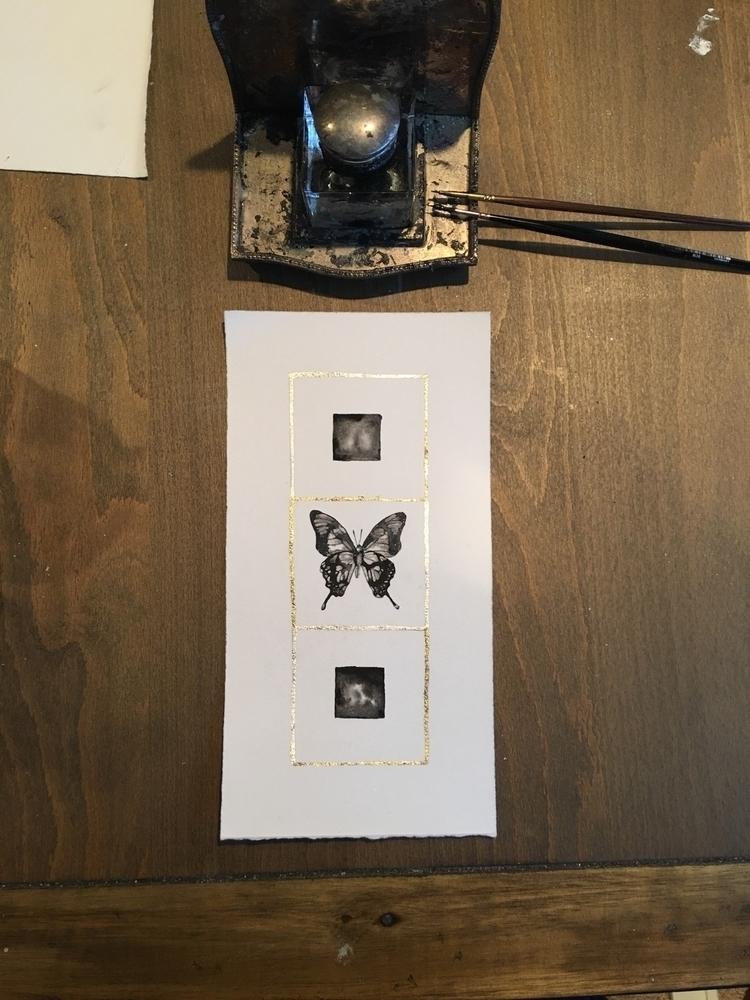 ink, painting, art, artstudio - alexakarabin   ello