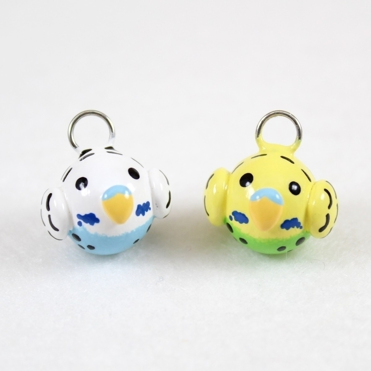 Teeny parakeet charms white/blu - mariposaminiatures | ello