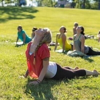 summer excited yoga park events - jemyoga | ello
