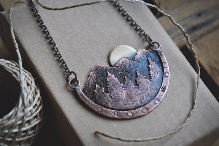 Mountain range - view form terr - twistedjewelry | ello