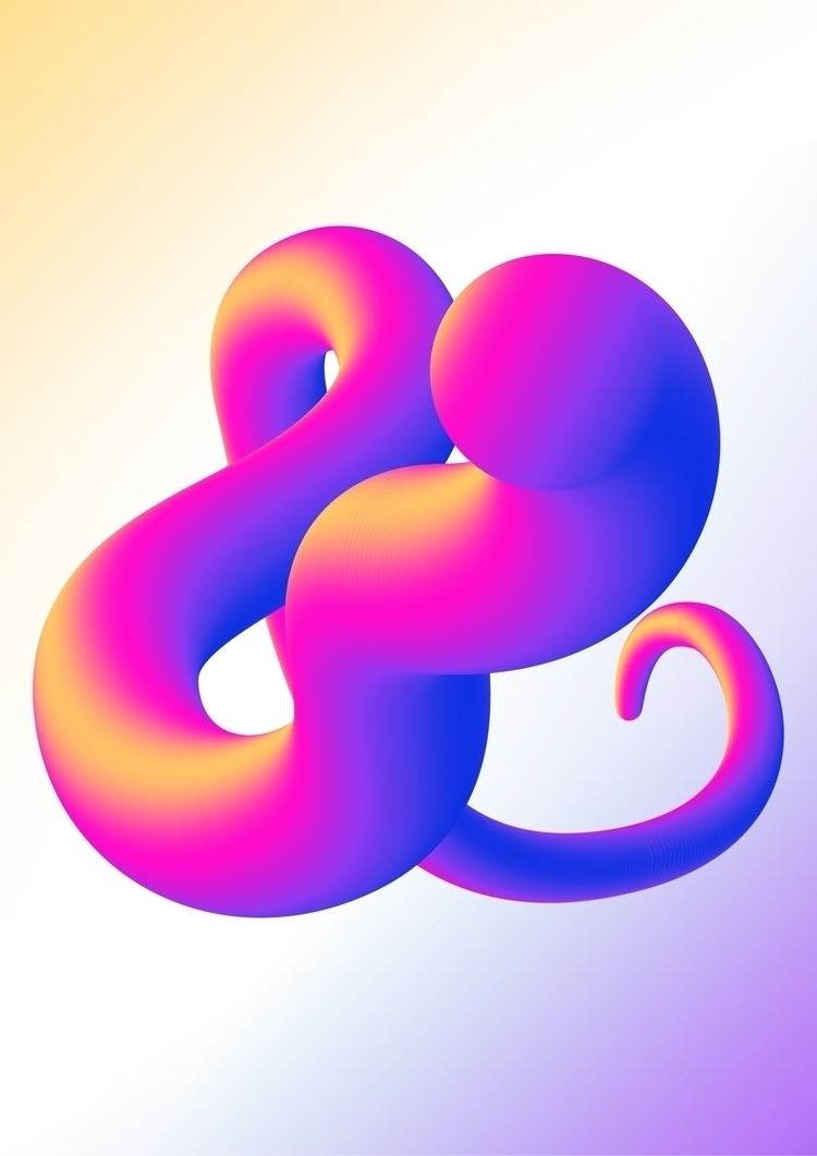 ampersand, vector, gradient, blend - luckydarren | ello
