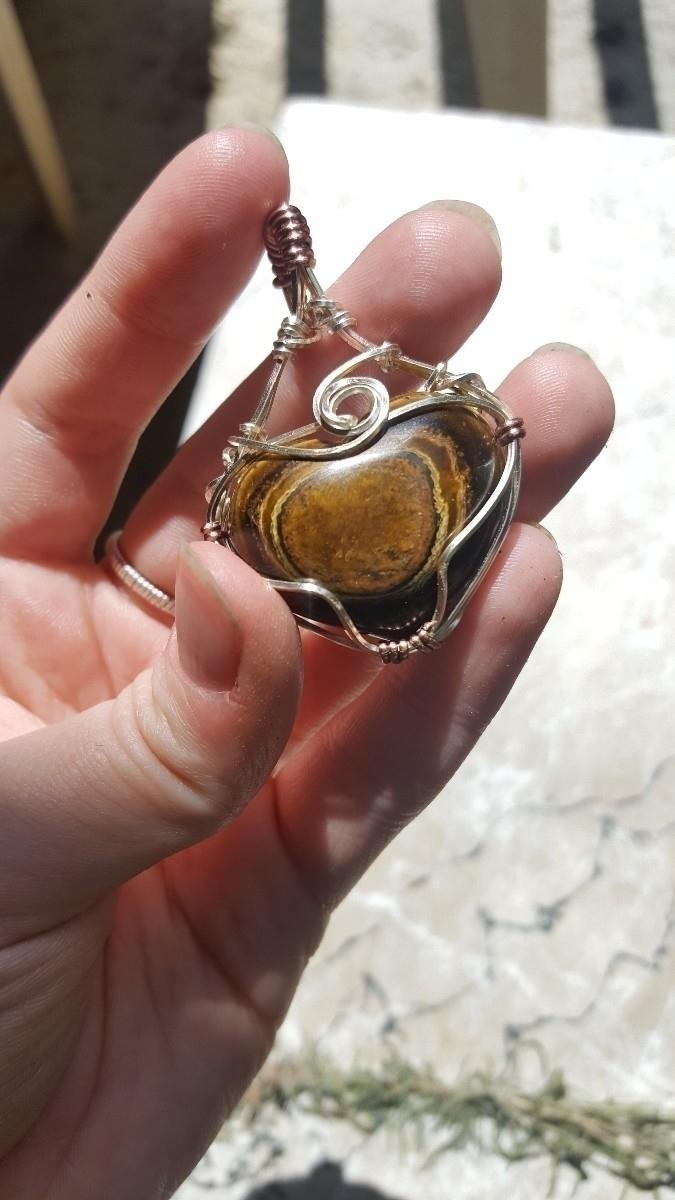 Stunning tigers eye heart penda - kiraskycreations | ello