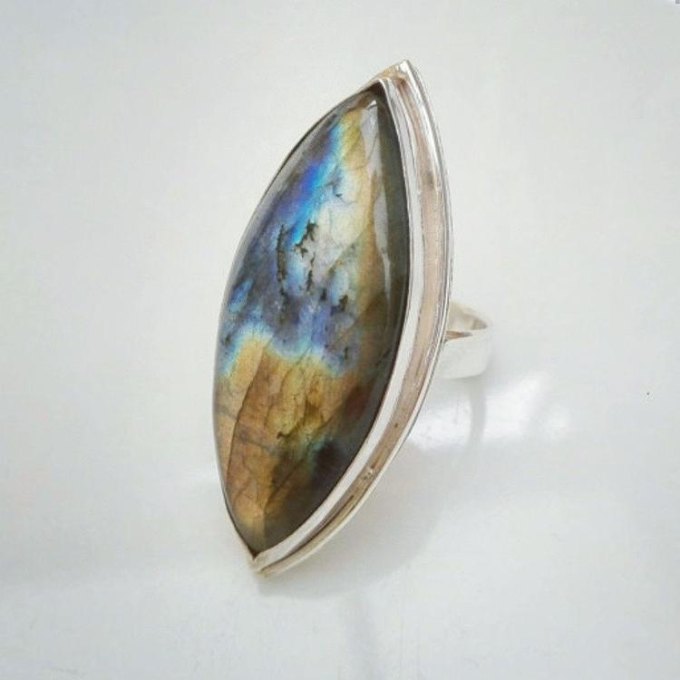 Large Labradorite ring, handmad - rvtoortje | ello