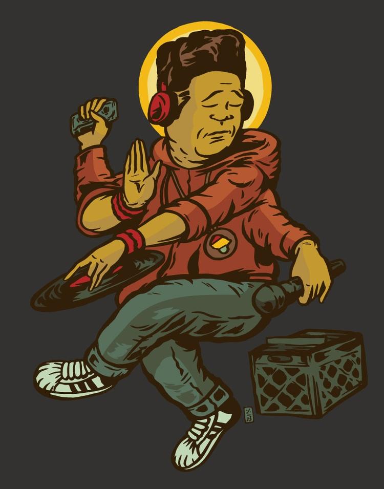 Beat God - illustration - thomcat23 | ello