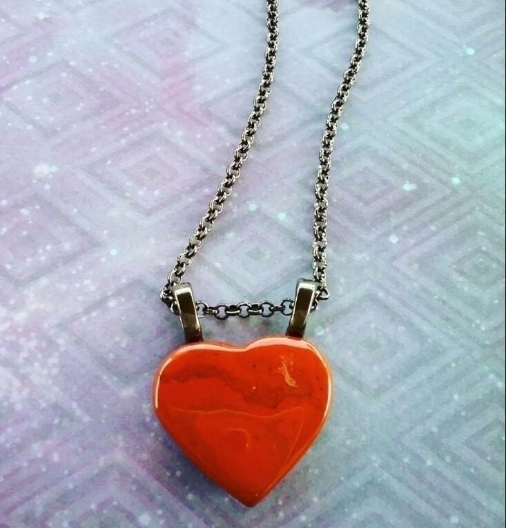 Red Jasper necklace code ALMOS1 - almosdesigns | ello