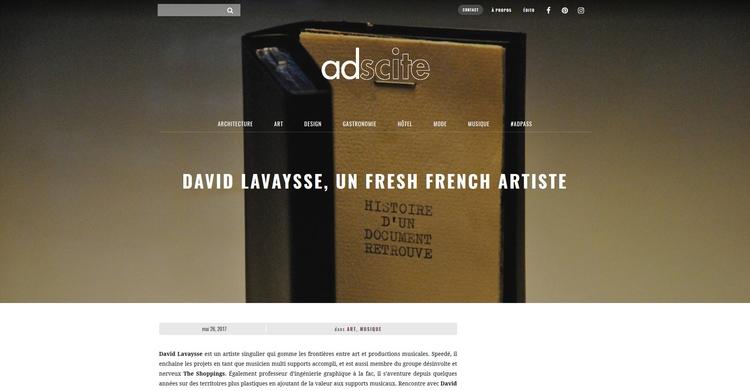 interview French website adscit - davidlavaysse | ello