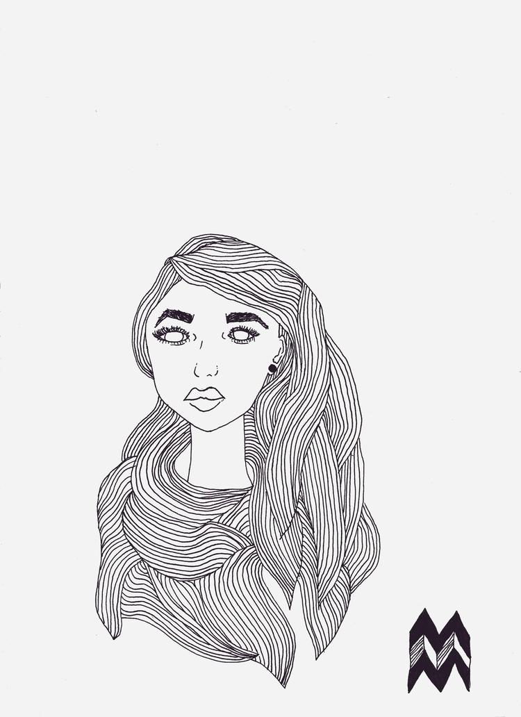 drawing, lines, women - amafaldaam | ello
