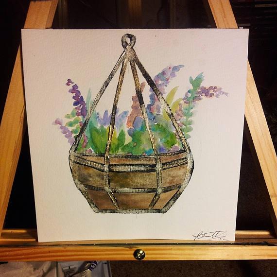 Find beautiful watercolor acryl - mintroyaleshop | ello