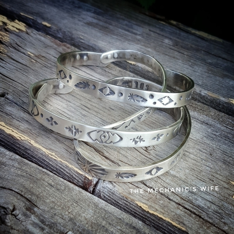 Sterling Silver hand stamped cu - themechanicswife | ello