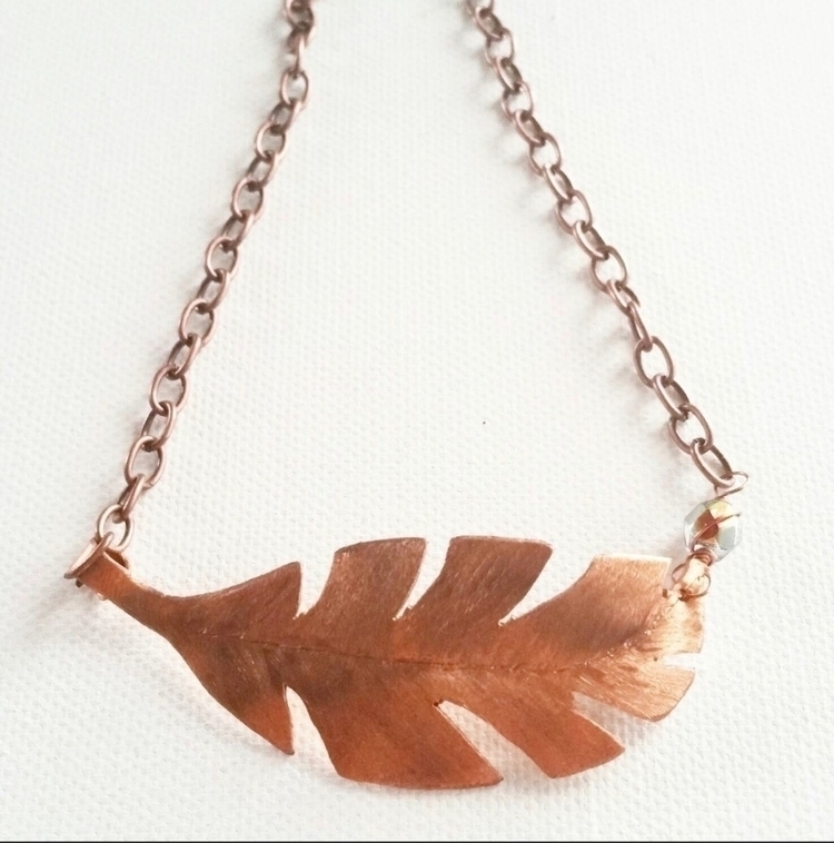 Hand cut copper palm leaf Swaro - sonmarbohemia | ello
