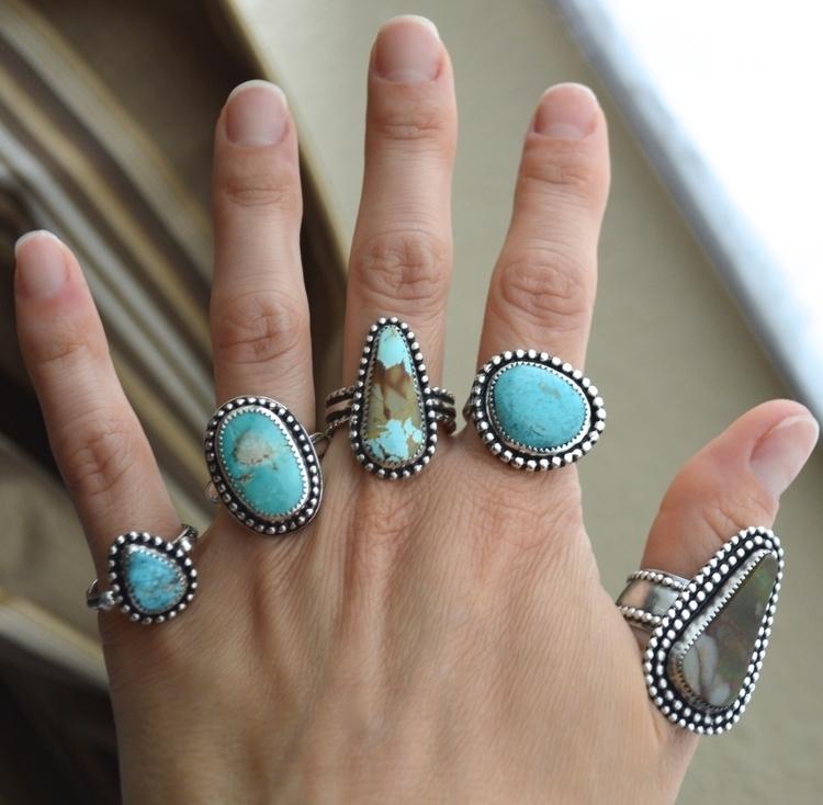 rings sterlingsilver - turquoise - mysterysilverco | ello